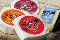 Divine Dairy #dairy #cheese #packaging #label #wrapper #brie