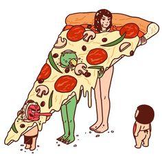 Likes | Tumblr #illustration #pizza