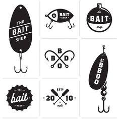 Allan Peters #bait #vector #blackwhite #logo #fishing