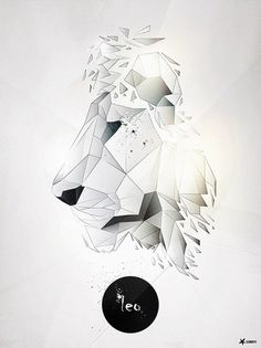 Leo | PIKTED #leo #shards #lion #geometric #glass #illustration