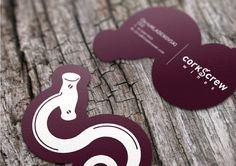 Corkscrew Logo/CorporateID #die #cut #mockup #card #cork #design #wine #screw