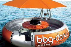 Ever wished you could grill and chill on a boat at the same time? Well now you can with the bbq-donut boat; it's the ultimate summer experie