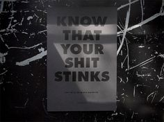 Know your S#%*! print - ike #kansas #jeffrey #ike #shit #stinks #studio #mckee #your #lawrence