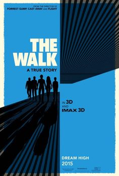 The Walk Movie Poster #movie #hollywood #retro #the #cinema #poster #blue #walk