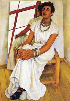 Portrait of Lupe Marin, 1938 by Diego Rivera #rivera #diego