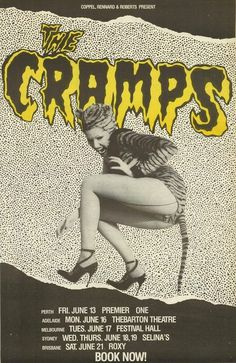 poisonivythecramps:1986 Australian Tour #cramps #the #style #anti