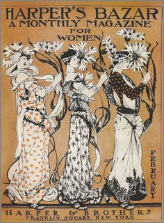 Harpers Bazaar 1904 February #cover #illustration #vintage #fashion #bazaar