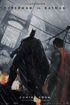 Superman vs Batman promo poster by DComp