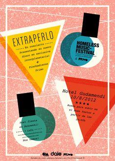 Homeless Music Festival » Homeless + Primo = EXTRAPERLO #design #music #festival #homeless