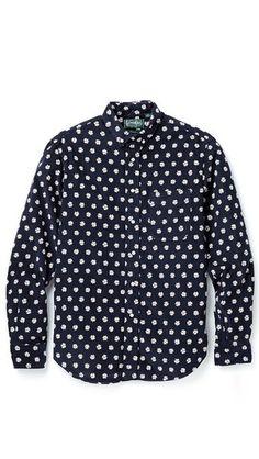 Gitman Vintage Daisy Corduroy Shirt #shirt