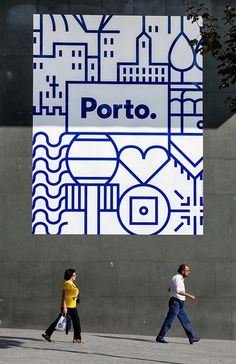 Porto. on Behance #icons #identity #poster #porto #blue