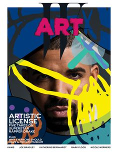 Drake: View From the Five Kaws W Magazine Cover Illustration