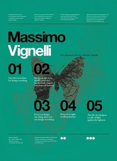 Onestep Creative - The Blog of Josh McDonald #massimo #vignelli #poster
