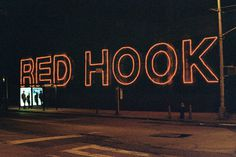 http://25.media.tumblr.com/8c78b7675d3f308d7cae6b371c1d433f/tumblr_mkavunhhOJ1rrtxd8o1_1280.jpg #lettering #red #hook #new #york #brooklyn #neon