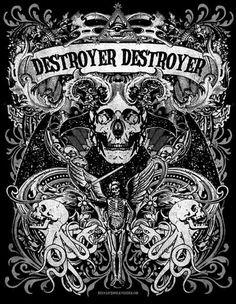 FFFFOUND! #skull #destroyer