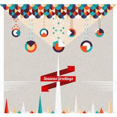 Christmas Cards by Ema Rogotbete on Behance http://bit.ly/1fAh8Tt #holiday #card #pattern