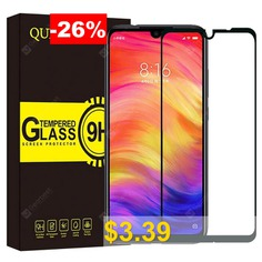 QULLOO #Tempered #Glass #Screen #Protector #- #BLACK