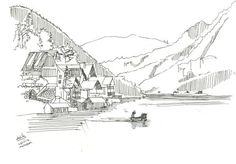 Travel Impressions from Austria | France #paris #eiffel #austria #france #scenic #hallstatt #boat #art #tower #lake #beautiful #view #love #sketch