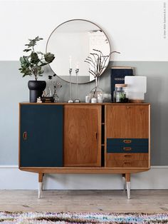 IKEA graphic minimalistic shapes and vintage furniture