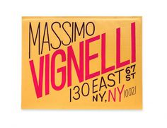 For Mr. Vignelli – Erik Marinovich – Friends of Type