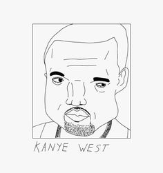 kanye west illustration draw doodle