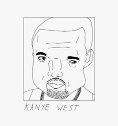 kanye west illustration draw doodle