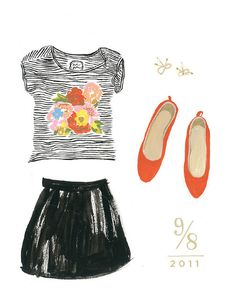 what I wore Danielle Kroll #fashion #illustration