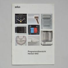 Braun programm overview autumn 1992 1992 via www.dasprogramm.org