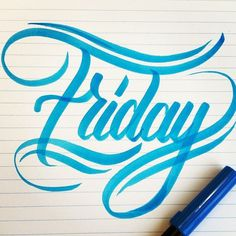 FRIDAY - Lettering by Tim Bontan #friday #lettering #type