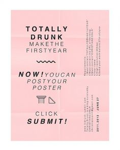 T O T A L L Y D R U N K 1st Year on the Behance Network #totallydrunk #christianconlh