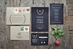 Wedding Invitation Designers - Yours Is The Earth | Oh So Beautiful Paper #wedding #natural #organic #invitation
