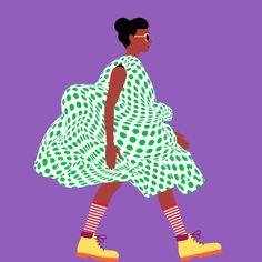 Catwalk #1 - by @mkrnld #catwalk #fashion #3d #pattern #illustration #women #mkrnld #model