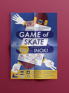 Game of skate on Behance, Magda Azab #magda #azab #rock #fresh #yellow #color #scissor #illustration #purple #skateboard #game #paper