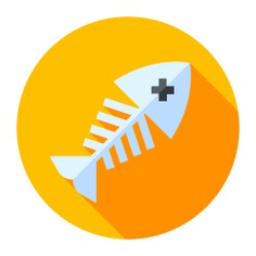 See more icon inspiration related to fish, fish bone, fish bones, skeleton, bones, bone and animals on Flaticon.