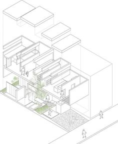 Machi House / UID Architects #architecture #drawing