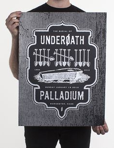Underoath Official storefront powered by Merchline #rike #underoath #poster #brandon #tour