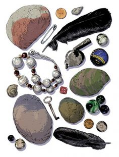 Nido : Ghostco #woodson #marbles #stones #feathers #illustration #ghostco #matthew #dice