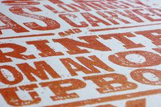 Luke Elliott #printed #letterpress #block