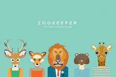 Vectors - Zookeeper by Theta - YouWorkForThem #youworkforthem #illustration