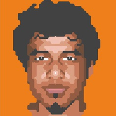 Look at my face first !! #graphic #design #portrait #pixels