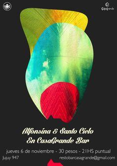 Alfonsina band Poster #indie folk #mar del plata #rock #casagrande #la osadia