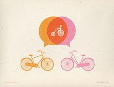 The Collective Loop #bicycles #peters #vintage #poster #allen