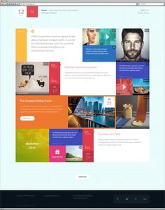 12 - Flat & Responsive PSD Template #designe