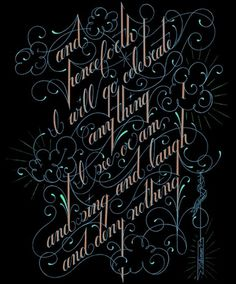 Selected Typography on the Behance Network #lettering #embellished