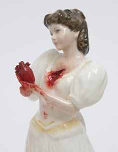 "Jessica Harrison, ""Karen"" (2013), Found ceramic, epoxy resin putty, enamel paint"