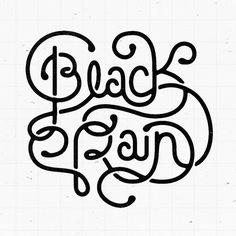 Black Rain #type #hand #ligatures #typography