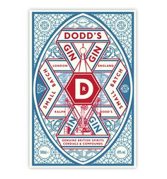 Dodd's Gin #packaging #alcohol