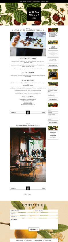 Whoa Nelly Catering Branding & Website on Behance #web #food
