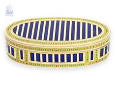 Snuff box: an exquisite, extremely rare French Gold and enamel snuff box,