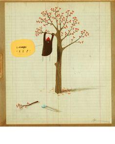 Oliver Jeffers - Illustration #bear #tree #leaves